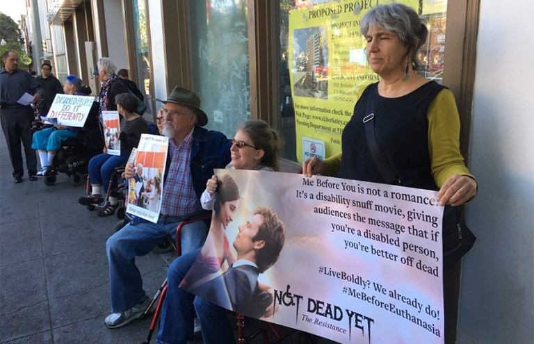Berkeley Disabled Students group gathers for 1st protest