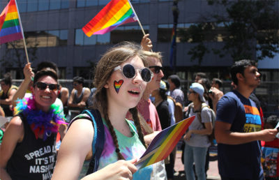 Participants continue to spread love beyond parade route