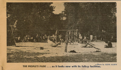 People's Park in 1969, in a photo taken prior to the May 15, 1969 riot over the University's plan to convert the park to an athletic field.