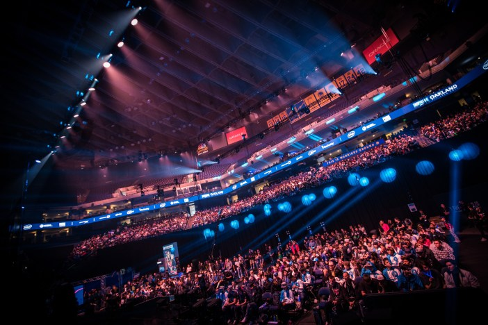 The crowd at Oracle Arena for IEM Oakland 2017.