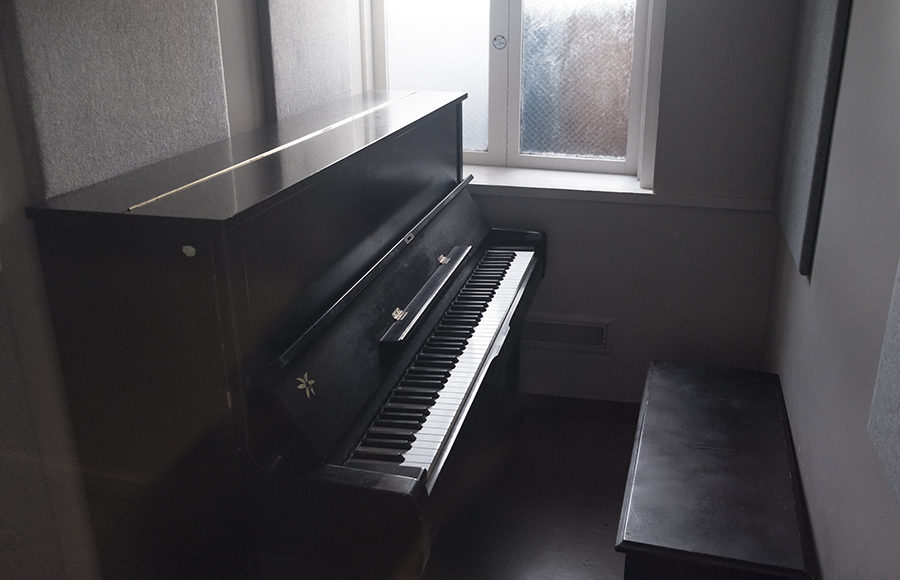The small practice rooms available to students makes it hard for even those with a lot of talent to keep up their skills.