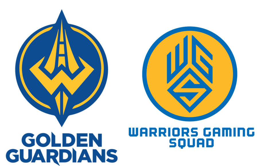 Golden Guardians and Warriors Gaming Squad Logos.