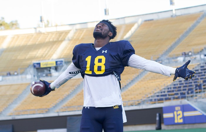 Michigan transfer wide receiver Moe Ways developed into a leader both on and off the field in his lone season with the Bears. KAREN CHOW/SENIOR STAFF