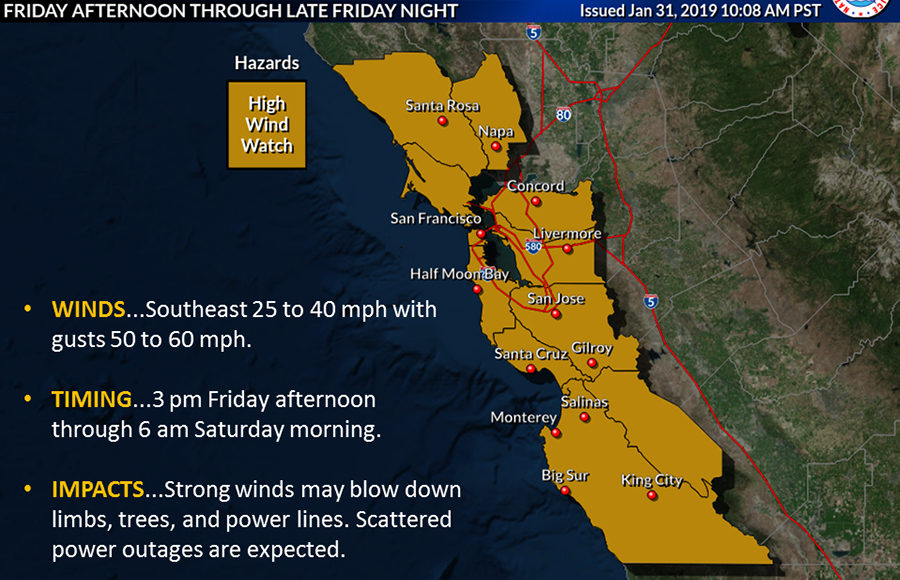 Map Of California Weather.National Weather Service Predicts Flooded Roads For Alameda County