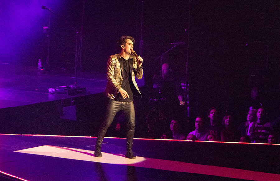 63103803 Singer Brendon Urie, also known as Panic at the Disco, performs at Oracle  Arena