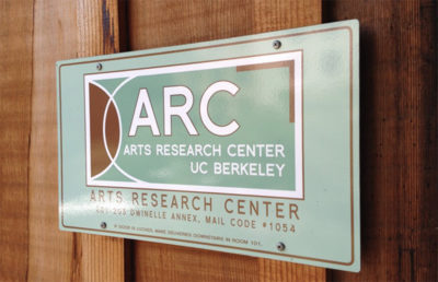 "A sign reads ""ARC Arts Research Center Berkeley"""