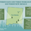 Map of New Mexico showing three national park locations