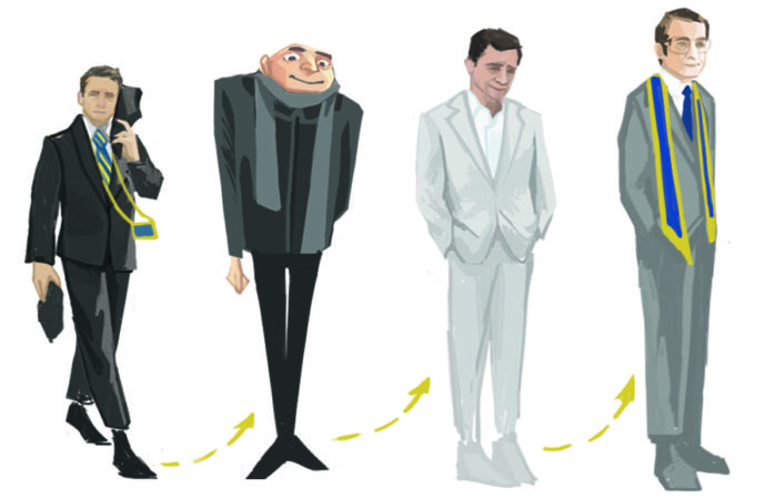 A progression of Steve Carell characters