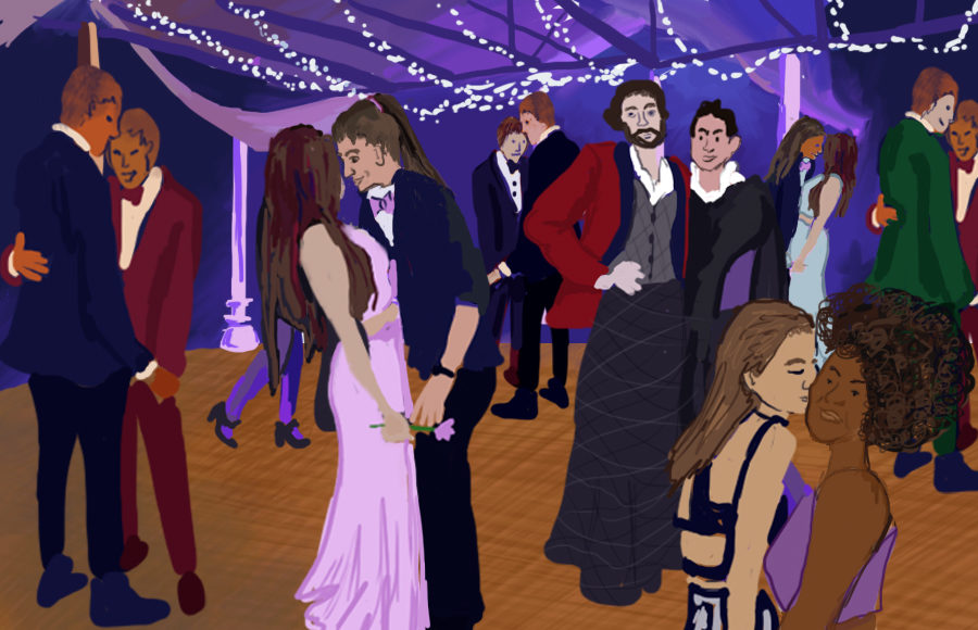 Prom dance with LGBTQ+ couples