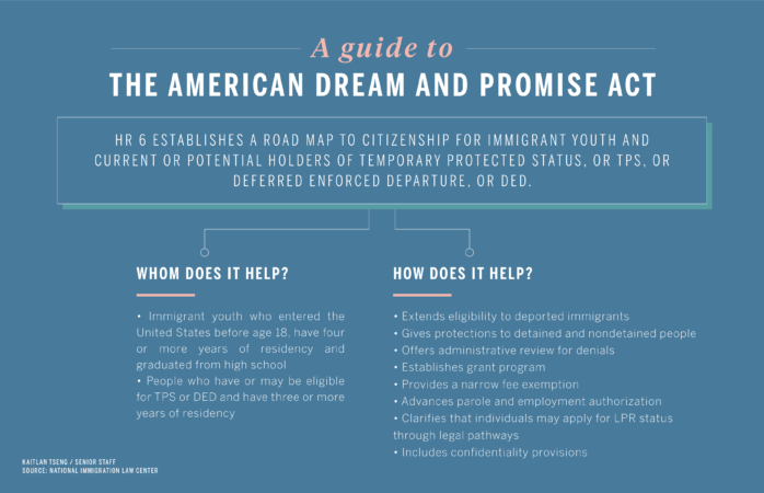 Flowchart summarizing the American Dream and Promise Act