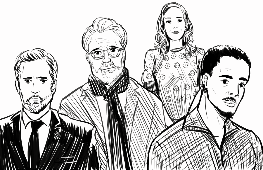 Illustration of characters from NBC shows