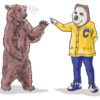 Illustration of Oski and bear