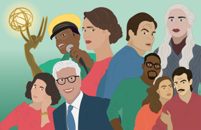 Illustration of TV show characters nominated