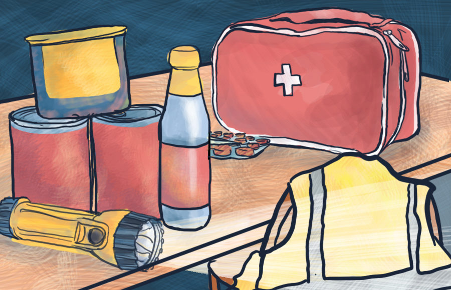 Illustration of emergency tools