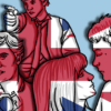 Illustration of British people