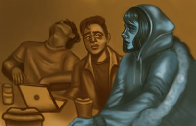 Illustration of people in Moffitt