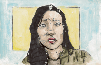 Illustration of Awkwafina