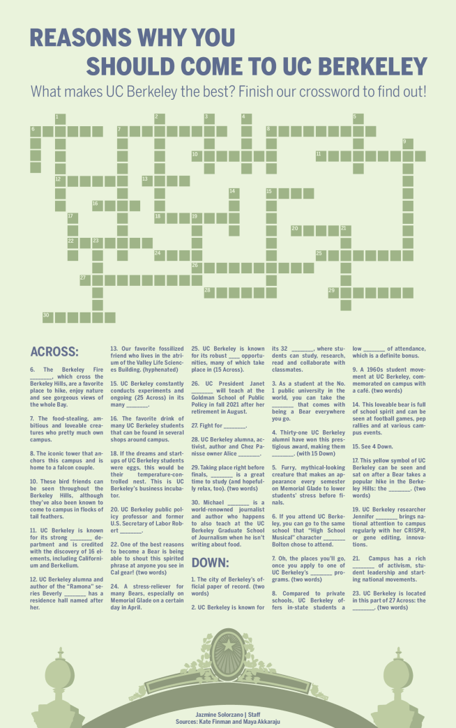 cal day themed crossword puzzle