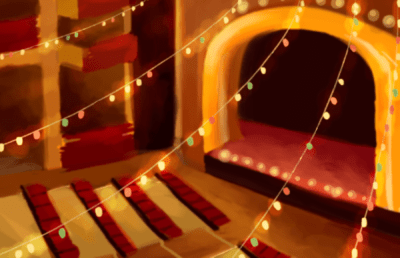 Illustration of empty theater