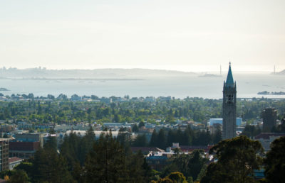 Photo of city of Berkeley, campus aerial view
