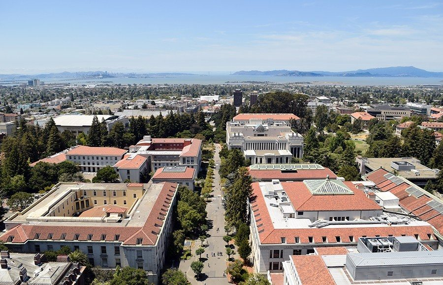 UC Berkeley's campus from a sky view.
