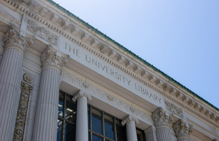 Photo of UC Berkeley Doe Memorial Library, The University Library