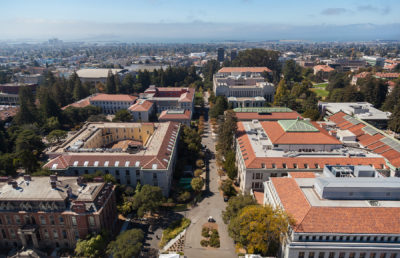 Overhead view of UC Berkeley campus