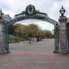 Sather Gate located by upper Sproul Plaza.