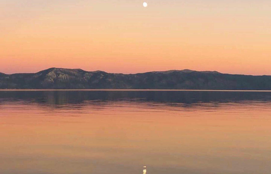 Photo of Lake Tahoe sunset