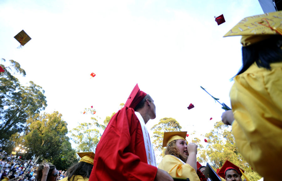 Photo of Berkeley High School graduation