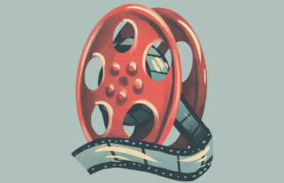 Illustration of a film reel.