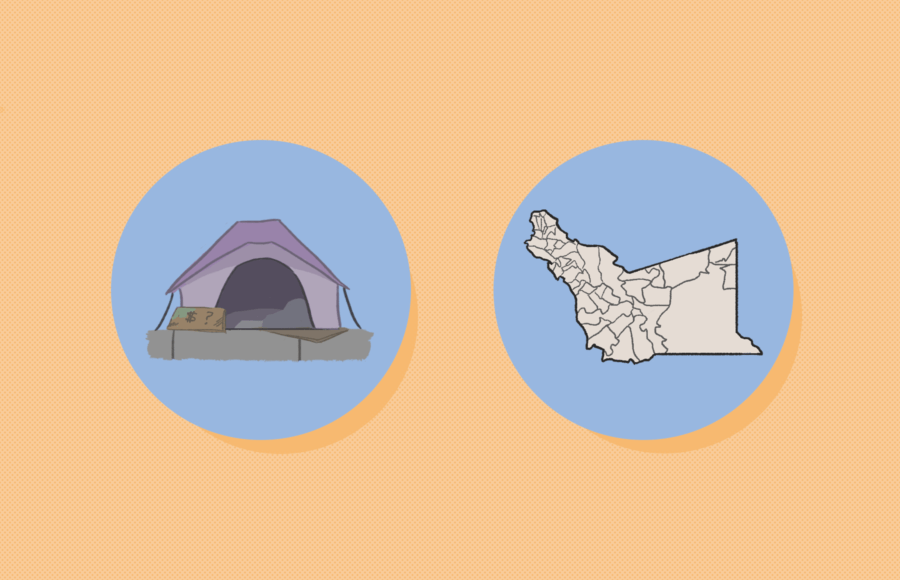 Illustration of two circular icons representing two Alameda county measures.