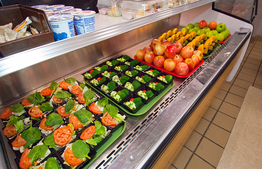 Photo of healthy school lunches in Arlington, Virginia for the National School Lunch Program