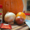 Photo of fall kitchen staples: cinnamon, onion, chai, etc