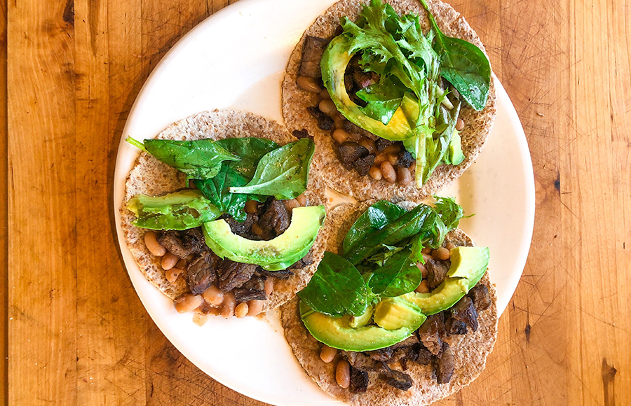 The best healthy lunch: Steak and veggie taco recipe