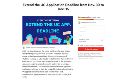 UC Application Deadline