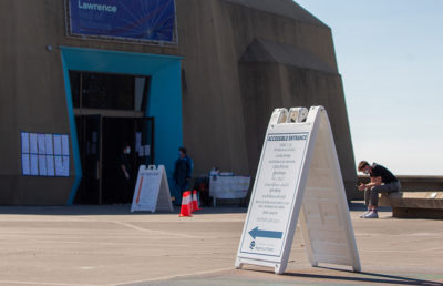 Photo of polling place at Lawrence Hall of Science