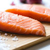 Photo of raw salmon fillets