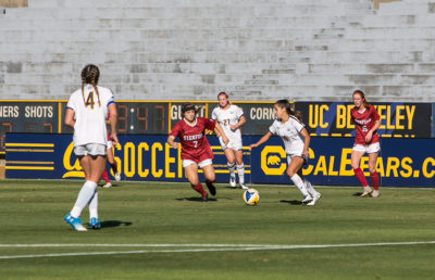 Photo of Cal Women's Soccer game against Stanford