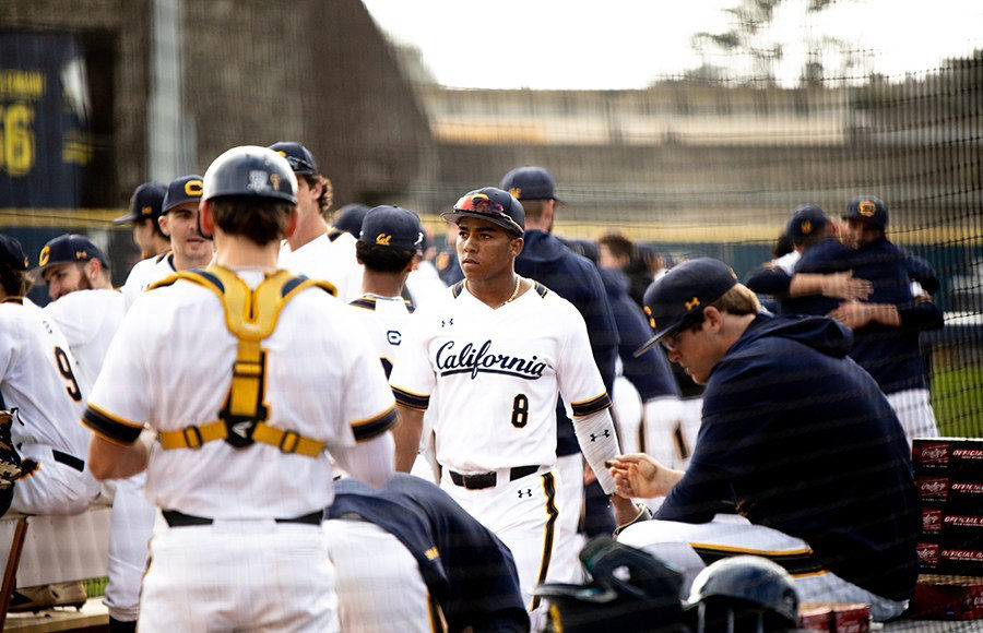 Photo of Cal Men's Baseball Team at a game