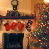 Photo of Christmas decorations and stockings