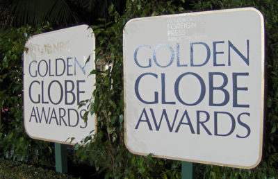 Photo of Golden Globe Awards Sign