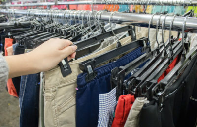 Image of a clothing rack