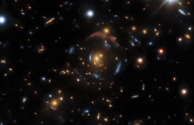 Photo of Gravitational Lensing Candidates