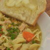 Photo of chicken noodle soup