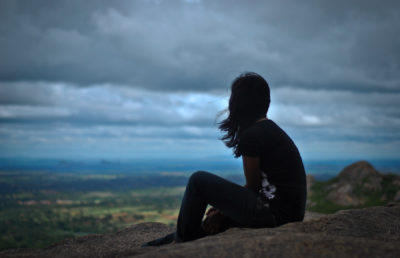Image of lonely woman