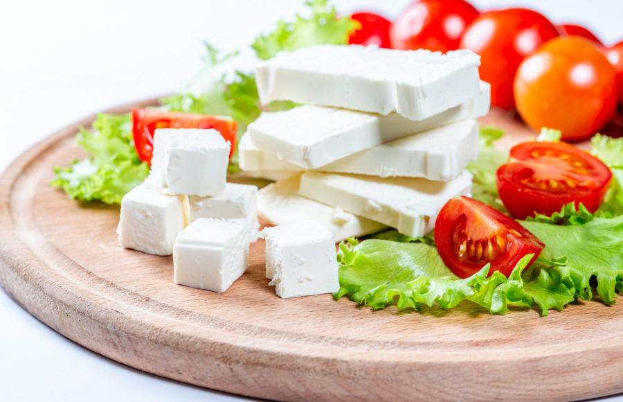 Image of feta and tomatoes