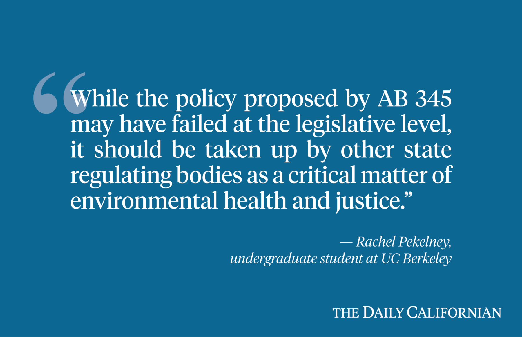 CA needs to drill its commitment to environmental justice