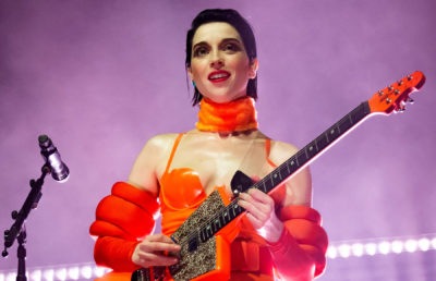Photo of St. Vincent performing at The Hollywood Palladium