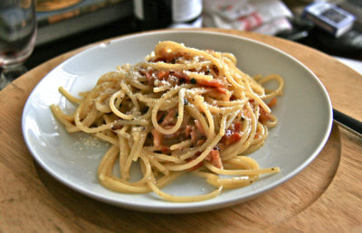 Photo of a plate of Carbonara